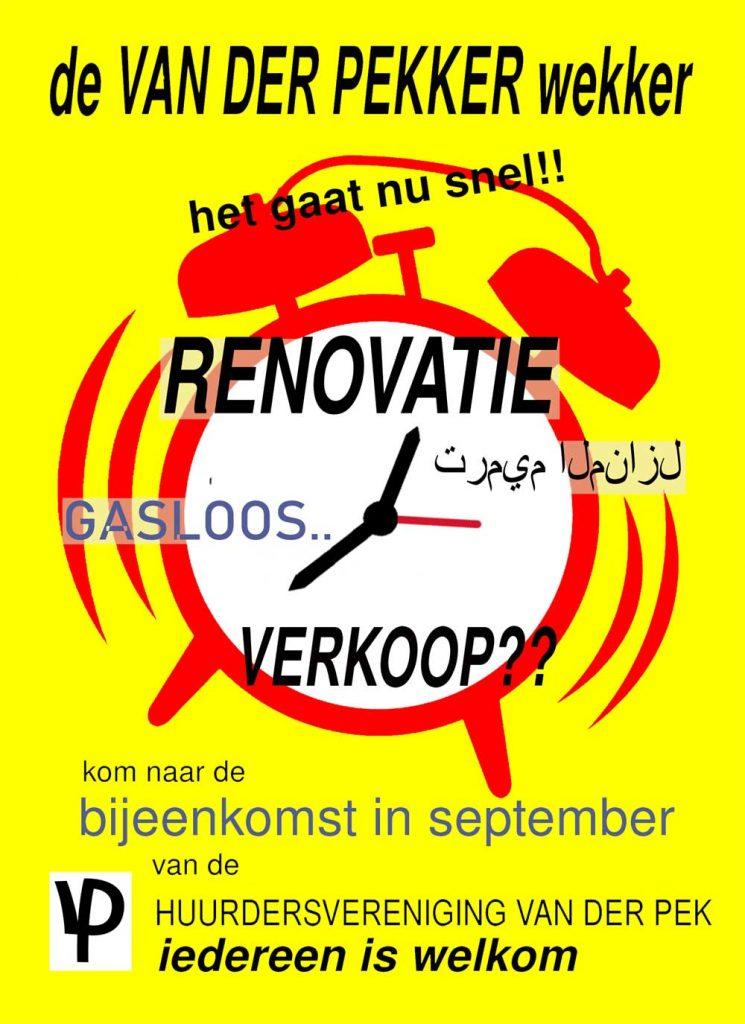 Bewoners Van der Pekbuurt - Bijeenkomst in september